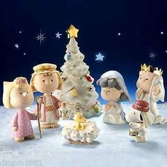 Lenox ~ The Christmas Pageant PEANUTS Snoopy Nativity 7 pc Figurine COA NIB in Collectibles, Decorative Collectibles, Decorative Collectible Brands | eBay