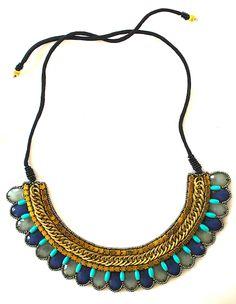 Serena Bib Necklace - Summer Perfect!
