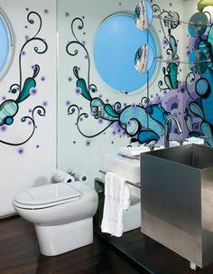 Grafite em banheiro
