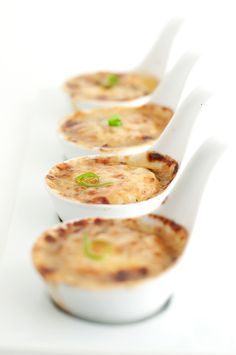 Scallops Gratineed with Wine, Garlic, and Herbs | #JC100 - Week 14 #JuliaChild....................outstanding......great for tapas....had with Tracey!