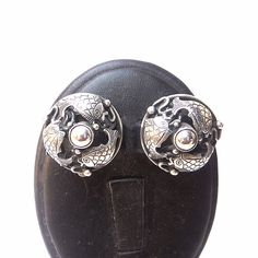 Vintage Sterling AG Denmark Fish Earrings by Betsysbijoux on Etsy, $75.00