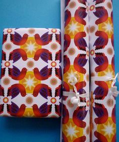 3 large sheets of eco Gift Wrap 'Birdstar' on Etsy, £4.00