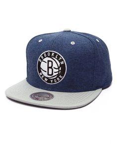 Mitchell & Ness - Brooklyn Nets Denim Harry Snapback Cap