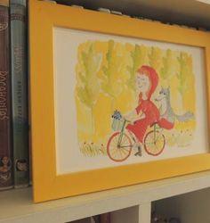 quadro infantil chapeuzinho vermelho - decoração viegas
