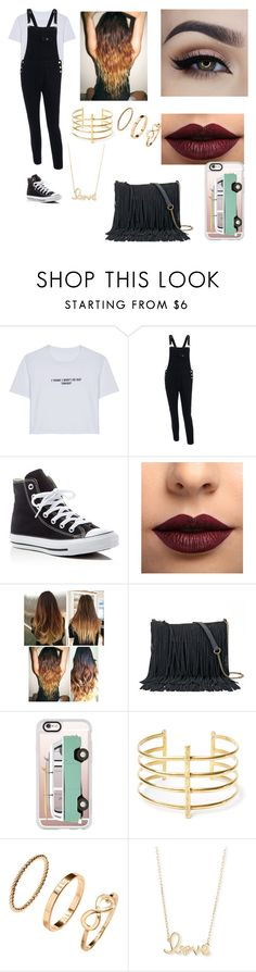 """mall with hayes"" by londonwassabi ❤ liked on Polyvore featuring WithChic, Converse, LASplash, SONOMA Goods for Life, Casetify, BauXo, H&M and Sydney Evan"