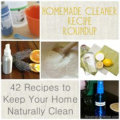 42 DIY cleaner recipes from around the web for every single room in the house!  Fantastic resource!