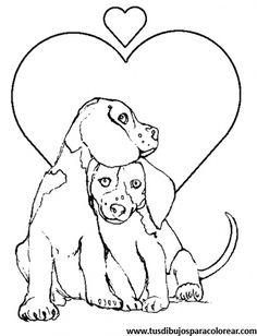 Descargar dibujos para colorear de perro_3 gratis