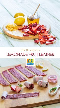 This DIY Strawberry Lemonade Fruit Leather recipe is a sweet and nutritious alternative to candy roll ups your kids will love. No need for a dehydrator, you can make these in the oven. Feel free to experiment with different fruits and flavors.