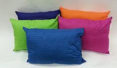 """Set of 2 """"Bright Ideas"""" Striped Pillows- Standard / Queen"""