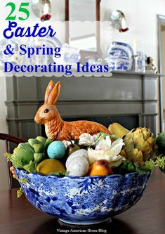 Easter and Spring Decorating Ideas from Vintage American Home Blog