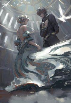 in Fantasy ~ In six months, Cinderella will be free. At ninet… Fantasy Fantasy Magic, 3d Fantasy, Fantasy Kunst, Fantasy Artwork, Dark Fantasy, Digital Art Fantasy, Fantasy Romance, Anime Fantasy, Fantasy Paintings