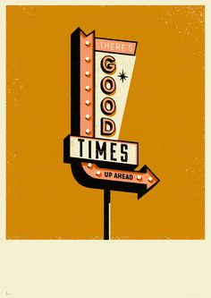 Weve always been inspired by mid century design, especially Americana, and on holiday weve been known to spend more time taking photos of signposts and buildings than each other!Our road sign prints are inspired by the wonderfully timeless design of t… Retro Kunst, Retro Art, Retro Graphic Design, Logo Design, Vintage Design Poster, Flyer Design, Graphic Prints, Sign Printing, Screen Printing