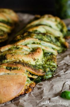 Braided Basil Pesto Bread - Mediterranealicious