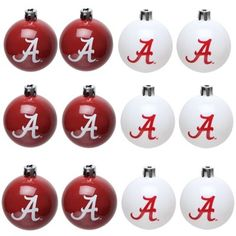 Alabama Crimson Tide 12-Pack Plastic Ball Ornaments