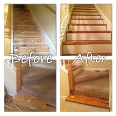 refinishing stairs after carpet removal | How to Redo Your Carpeted Stairs | A Crafty College Girl
