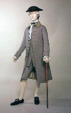 Men's suit, 1760-1770.