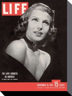 Rita Hayworth - Life Cover - Time Life - Official Canvas Print. Official Merchandise. FREE SHIPPING