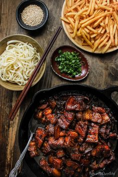 Sweet and sticky, this melt in your mouth beer braised pork belly is simple to make and incredibly flavourful. #recipe #braised #porkbelly #chinesefood