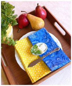 Cloth Napkins French Country Inspired Fabric by AlexAndRiaBaby, $28.00