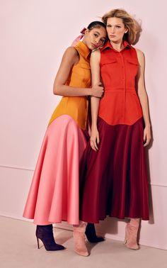 Two-Tone Satin Shirt Dress by BRANDON MAXWELL for Preorder on Moda Operandi