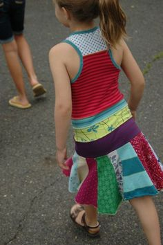 Cute T-shirt scrap dress