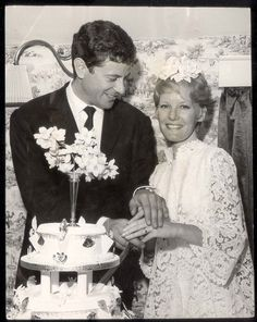 Petula Clark marrying Claude Wolff at their wedding eception in Primrose Cottage, Lodsworth near Petworth, Sussex, in June 1961