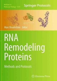 Rna Remodeling Proteins: Methods and Protocols