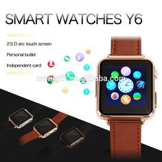Check out this product on Alibaba.com APP 15% OFF smartwatches for ios Y6 sport watch For Apple iPhone android watches for sale With Camera FM