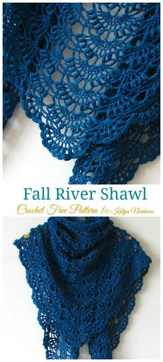 Fall River Shawl Crochet Free Pattern - Lace Shawl - Knitting crochet and amigurumi Fall River Schal häkeln kostenlose Muster – Lace Schal – yonca yurder – Join the world of pin Poncho Crochet, Crochet Shawls And Wraps, Crochet Scarves, Crochet Clothes, Crochet Stitches, Lace Shawls, Knitting Scarves, Ravelry Crochet, Sewing Clothes