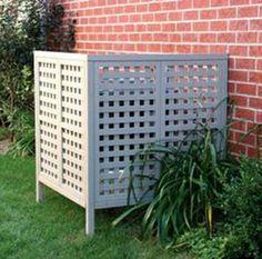 Attractive screen for heat pump