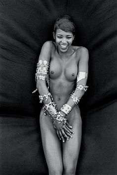 Naomi Campbell, Deauville, France, 1988, Vogue Italy.  Peter Lindbergh, courtesy of Peter Lindbergh, Paris/Gagosian Gallery