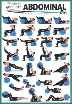 Abdominal Ball workouts #ball #core