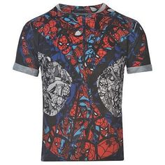 Boys Official Marvel Comics Spiderman Collage T Shirt #spiderman