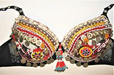 TBR6 Tribal belly dance braTribal kuchi braTribal belly