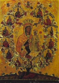 18th Syria Mary Jesse Tree Orthodox Icon