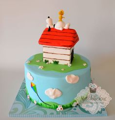 Snoopy Woodstock Snoopy Cake and Snoopy cake