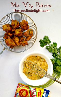 Make mix vegetable fritters, recipe by The Foodie Delight