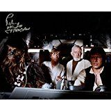 #USAshopping #8: Peter Mayhew Autographed Chewbacca Luke Skywalker Obi Wan Kenobi And Han Solo Millenium Falcon 8 Inches by 10 inches Photo