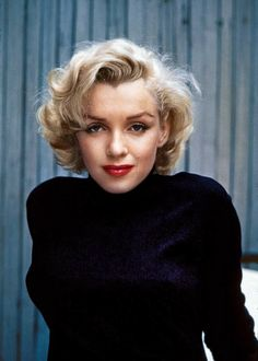 """Hollywood, 1953. """"Actress Marilyn Monroe at home."""" 35mm color transparency by Alfred Eisenstaedt."""