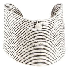Women's Gas Bijoux Wave Cuff (890 BRL) ❤ liked on Polyvore featuring jewelry, bracelets, silver, silver jewellery, cuff bangle, silver jewelry, silver cuff bangle and gas bijoux
