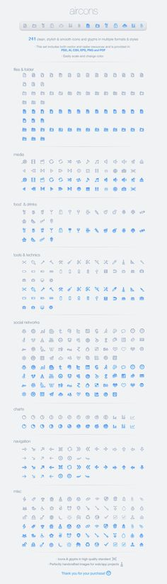 Aircons Icon Set - Clean and modern glyphs by ~okidoci on deviantART