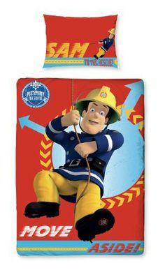8e796d74a6b6b2 Parure linge de lit Housse de couette + Taie d oreiller Enfant Fille Garcon  Fireman Sam le Pompier Alarm pour un lit 1 Personne  Amazon.fr  Cuisine    Maison