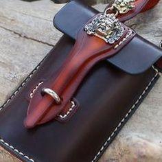 Handmade Leather Mens Waist Bag Hip Pack Belt Bag Fanny Pack Bumbag for Men