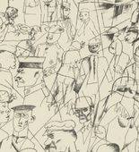 George Grosz. Plate 1 from Ecce Homo. 1922-1923 (reproduced drawings and watercolors executed 1915-22)