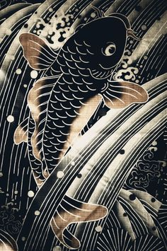 Traditional Japanese Koi Fish design really cool and would get a tattoo of this or something like it.