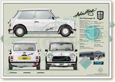 Mini Advantage LE 1987 classic car portrait print