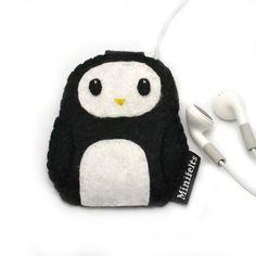 Penguin iPod Nano Case / iPod Nano 6th Generation 7th by minifelts