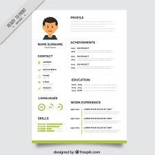 professional resume format download green resume template - Free Resume Format Download
