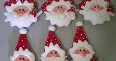 Abrindo a temporada dos encantos de natal! Começaremos com esses mimos de papai noel que podem servir para decorar e encantar!           ...