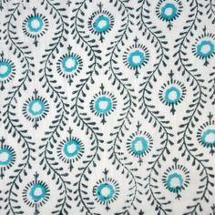 MBR - 1m Indian Cotton Block Print Fabric: Mayura. $16.00, via Etsy.